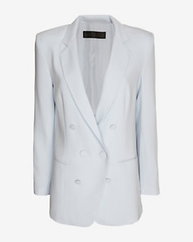 Jenni Kayne Cross Button Blazer: Light Blue