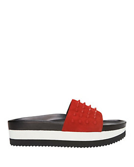 Barbara Bui Platform Slide Spike Sandal: Red