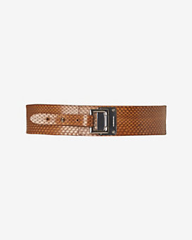 Barbara Bui Thick Watersnake Belt: Tan
