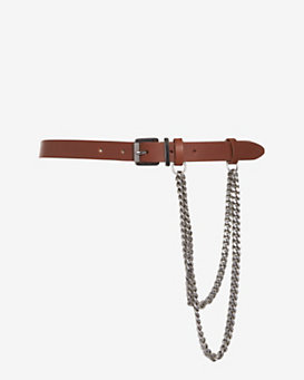 Barbara Bui Chain Laden Leather Belt