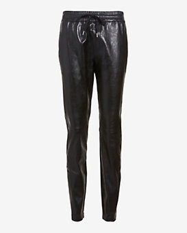 Barbara Bui Leather Drawstring Track Pant