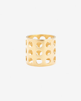 Kelly Wearstler Triple Row Perforated Ring