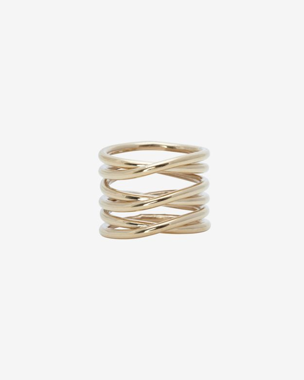 Kelly Wearstler Twisted Brass Midi Ring