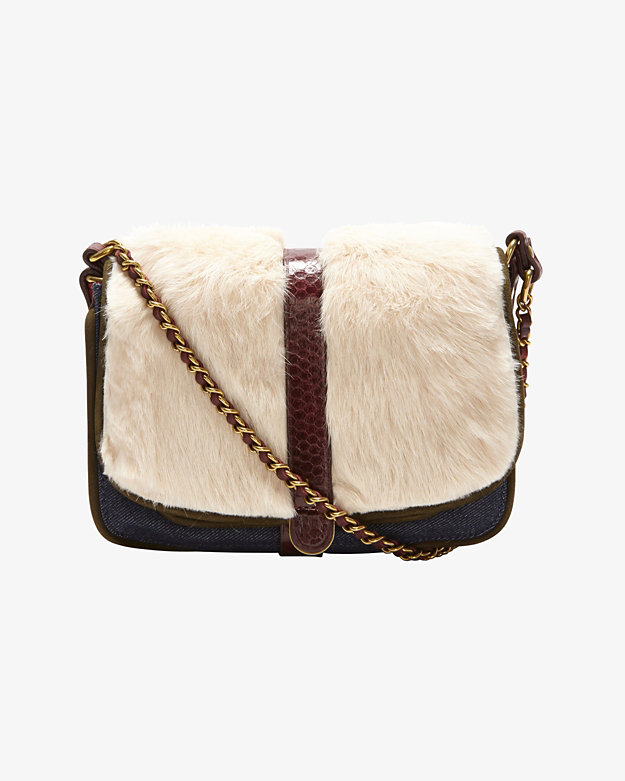 Jerome Dreyfuss JoJo Caviar Leather/Fur Crossbody