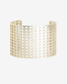 Kelly Wearstler Idealist Large Perforated Cuff: Gold