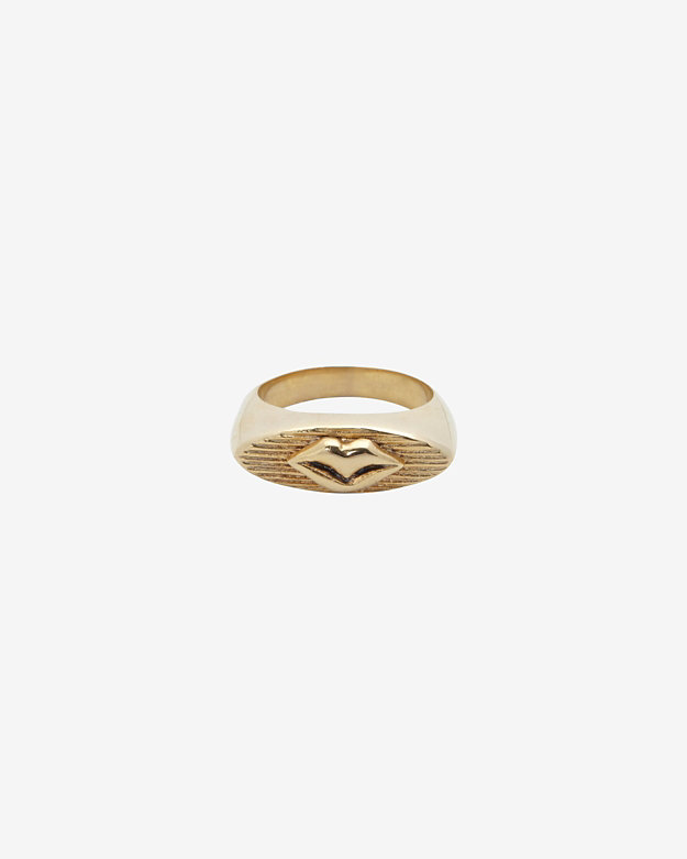 Kelly Wearstler Signet Halcyon Lips Ring