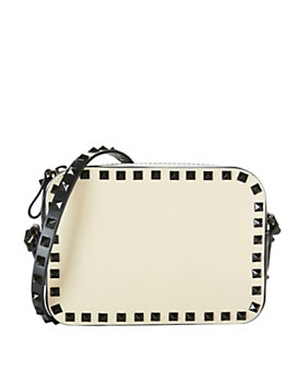 Valentino Rockstud Camera Bag: Ivory