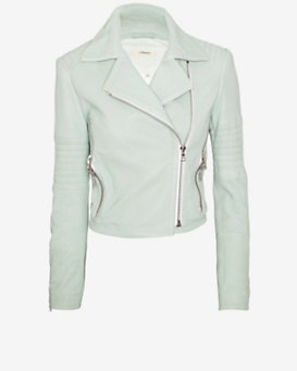 J Brand Ready-to-Wear Aiah Leather Crop Moto Jacket