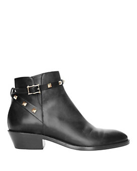 Valentino Rockstud Strap Leather Chelsea Boot