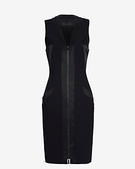 Barbara Bui Zipper Front Dress: Black