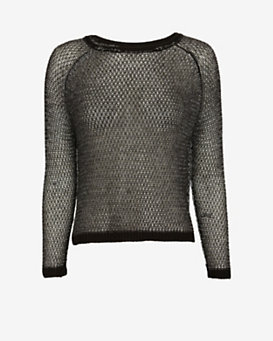 mason by michelle mason Open Back Lurex Sweater