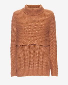mason by michelle mason Double Layer Turtleneck