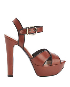 Barbara Bui EXCLUSIVE Cross Strap Platform Leather Sandal