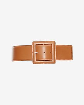 Barbara Bui Topstitched Buckled Belt