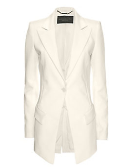 Barbara Bui Zipper Pocket Blazer: White