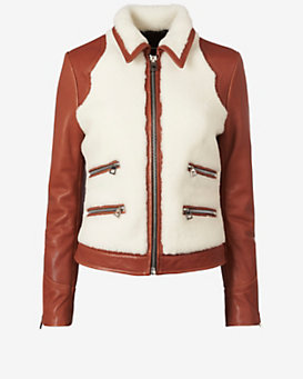 Barbara Bui Shearling Leather Jacket