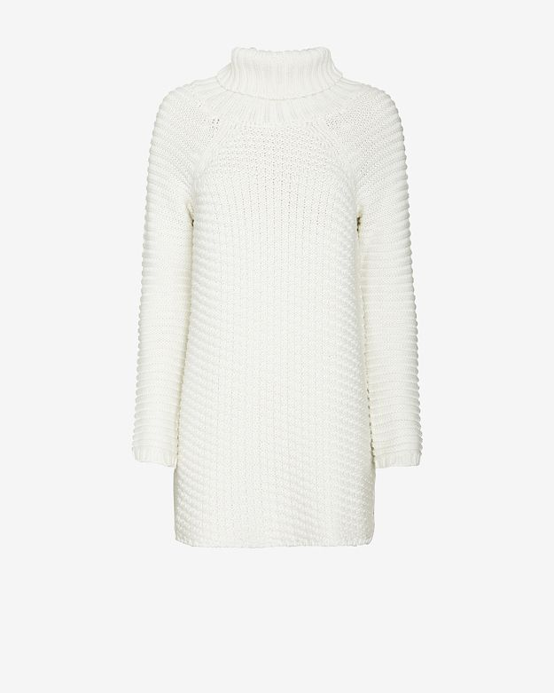 mason by michelle mason Turtleneck Sweater Dress: White