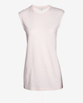 IRO Perforated Back Tank: Powder Pink