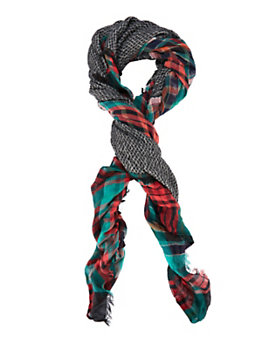Essentiel Antwerp Plaid Patch Scarf