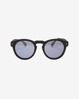 Illesteva Leonard Black Rims/Mirror Lens Sunglasses