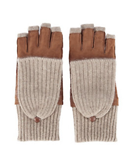 Carolina Amato Pop Top Fingerless Gloves