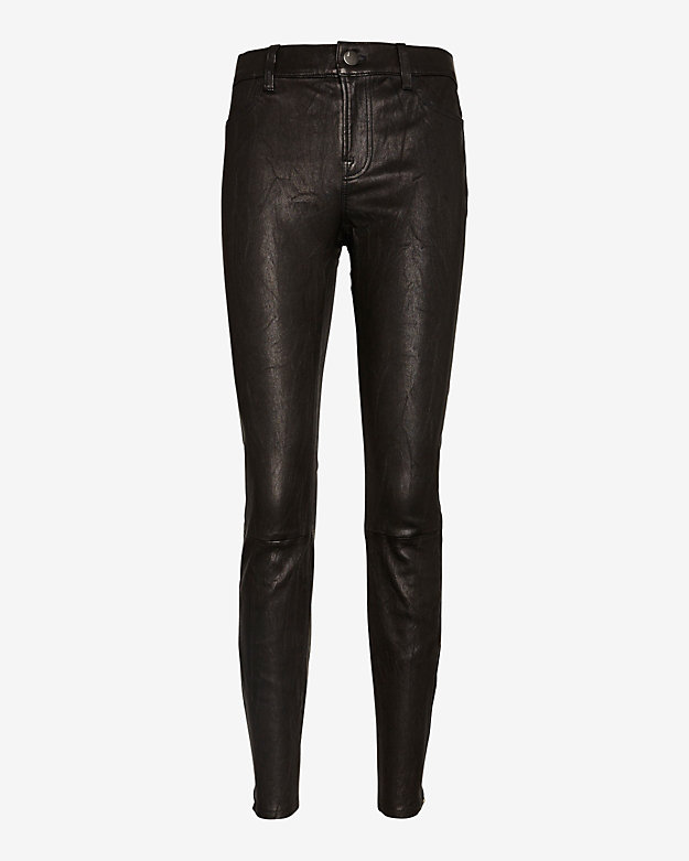 J Brand Leather Skinny: Black