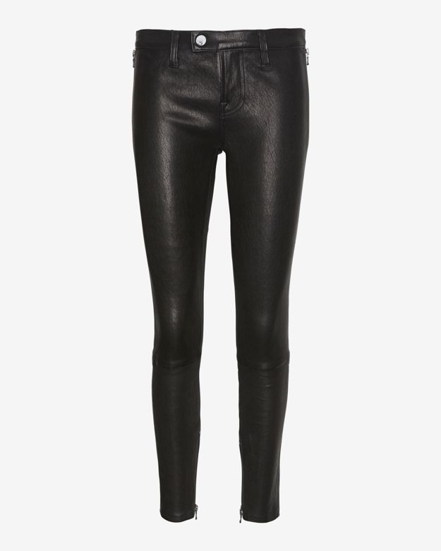 J Brand Jamie Tab Front Leather Pant