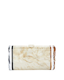 Edie Parker Lara Marbled Box Clutch