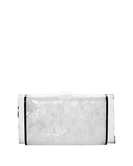 Edie Parker Lara Ice Ends Box Clutch