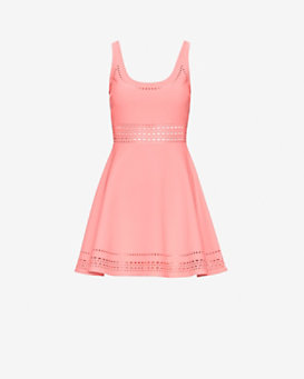 Elizabeth and James Kenton Mia Perforated Flare Dress
