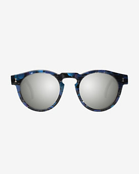 Illesteva Leonard Eco Iridescent Frame Mirrored Lenses Sunglasses