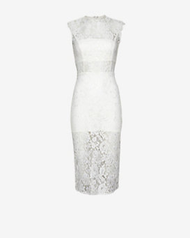 Alexis Pencil Fit Sleeveless Lace Dress