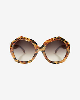 Linda Farrow Autumn Oversized Tortoise Gradient Lenses Sunglasses