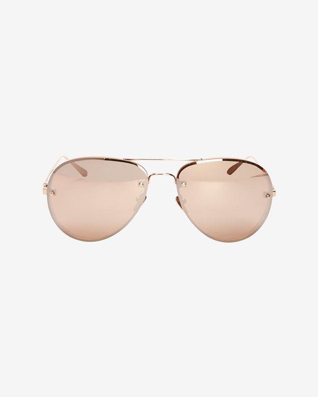 linda-farrow-mirrored-lense-aviator-sunglasses:-rosegold by linda-farrow