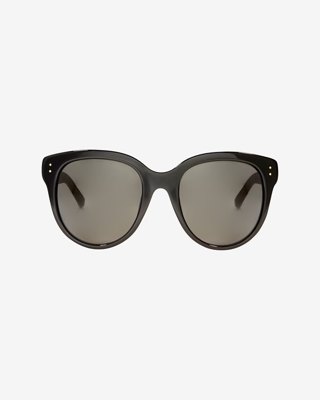 Linda Farrow Oversized Acetate Sunglasses: Black