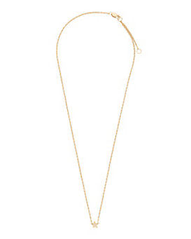 Jennifer Zeuner Lisan Diamond Detail Mini Star Necklace