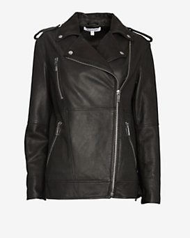 Elizabeth and James Renley Oversized Leather Jacket