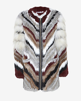 Elizabeth and James Tarra Natural Fur Jacket