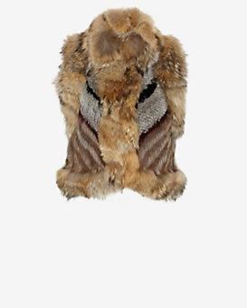 Elizabeth and James Robby Patched Rabbit/Coyote Fur Vest