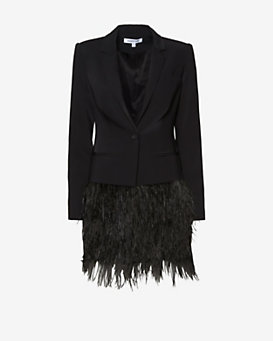 Elizabeth and James James New Feather Hem Blazer