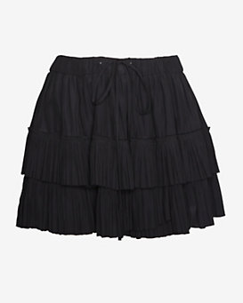 Elizabeth and James Double Ruffle Miniskirt