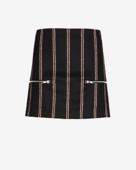 Elizabeth and James Raya Striped Zipper Skirt