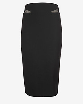 Elizabeth and James Otto Sheer Inset Pencil Skirt
