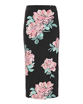 Elizabeth and James Darci Floral Print Pencil Skirt