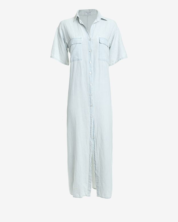 frame-maxi-shirt-dress:-light-denim by frame