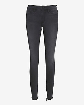 FRAME EXCLUSIVE Ankle Zip Skinny: Grey