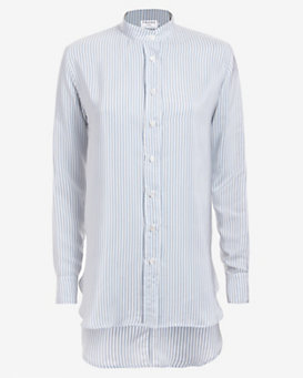 Frame Button-Down Striped Shirt