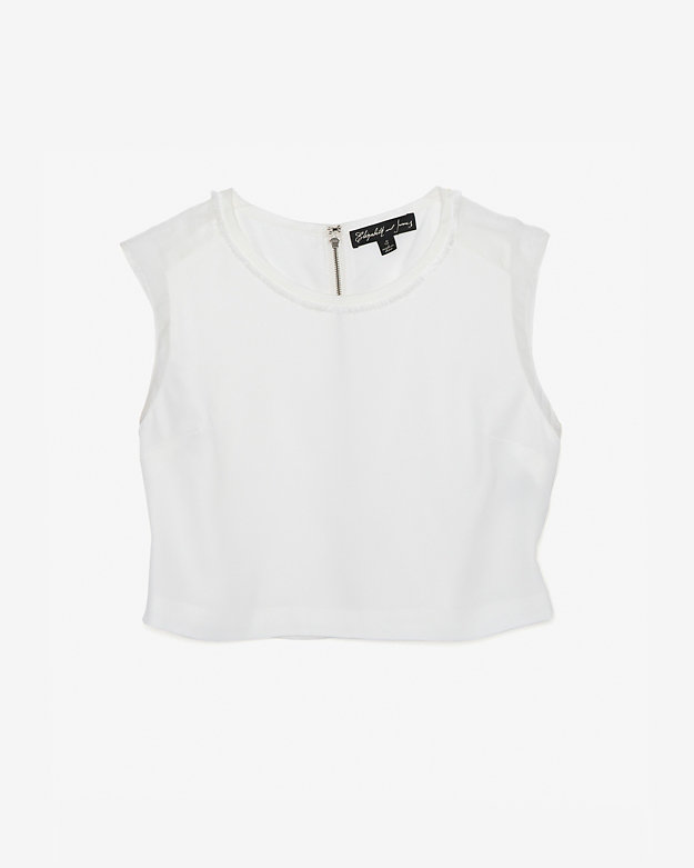 Elizabeth and James Brendan Sleeveless Crop Blouse