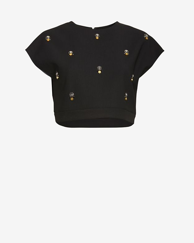 Elizabeth and James Colton Embellished Crop Top