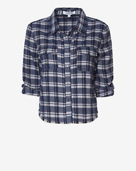 Elizabeth and James Buckley Plaid Shirt